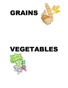 Healthy Food: Food Groups Sorting Labels for PreK or KG