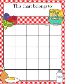 Healthy Food Incentive Chart