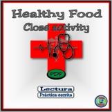 Healthy Food Reading Comprehension Activities -  ¿Cuánto sabes de la comida?