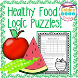 Nutrition Healthy Food Themed Logic Puzzles! Critical Thinking Gr. 2, 3, 4!