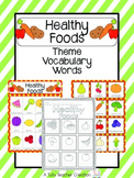 Healthy Food Vocabulary Cards