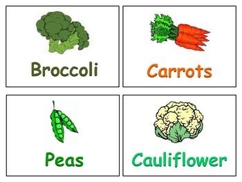 Healthy Food Word Cards