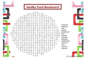 Healthy Food Wordsearch