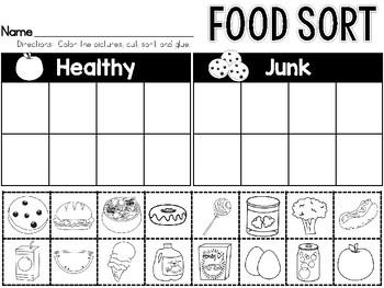 Healthy Food or Junk Food Sort