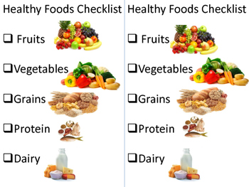 Healthy Foods Checklist