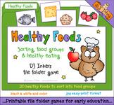 Healthy Foods File Folder Game Download