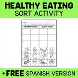 Interactive Sorting - Healthy Foods Activity