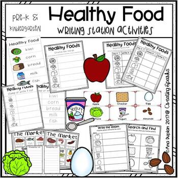 Healthy Foods Writing Station