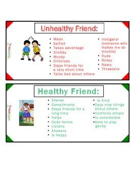 Healthy Friend vs Unhealthy Friend