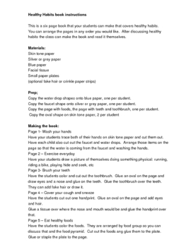 Healthy Habits Book to make