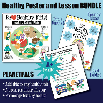 Health Habits Poster & Lessons Bundle Food Plate Healthy Lifestyle Ideas Habits
