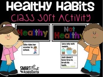 Healthy Habits Class Sort Activity