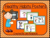Healthy Habits Classroom Posters-Criss Cross Borders