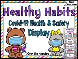 Healthy Habits | Covid-19 Health & Safety Display | Bright