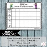 Healthy Habits Editable Chart