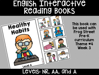 Healthy Habits English Interactive Reading Books Can Be Used With Frog Street