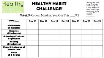 Healthy Habits Goal Chart