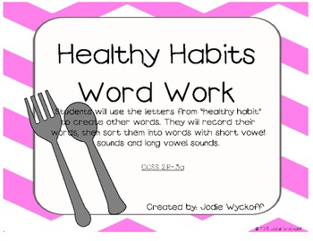 Healthy Habits Literacy Centers