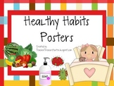 Healthy Habits Poster Set - Great for Back to School and Health - Plaid