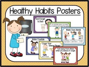 Healthy Habits Posters-Herringbone