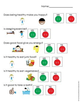 Healthy Habits Adapted EBook with videos and Activities for Autism Special Ed