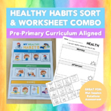 Healthy Habits SORT & WORKSHEET Combo - Curriculum Aligned