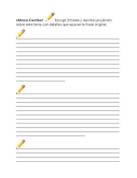 Healthy Habits Survey & Writing Prompts