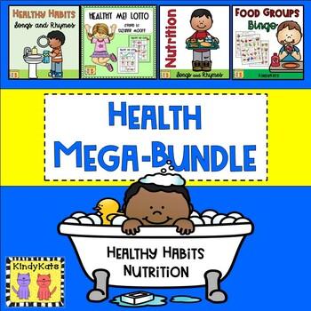 Healthy Habits and Nutrition BUNDLE: Songs & Rhymes, Bingo, Lotto
