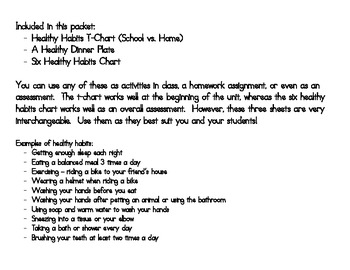 Healthy Habits for School and Home