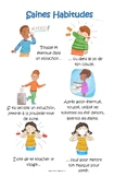 Healthy Habits poster (French version)