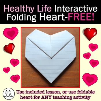 Interactive Folding Heart FREE! Lesson is Included, or use Heart for ANY TOPIC!