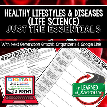 Healthy Lifestyle Just the Essentials Content Outlines Next Generation Science