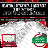 Healthy Lifestyle Outline Notes, Healthy Lifestyl Bullet Notes, NGSS, Google App