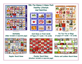 Healthy Lifestyle and Nutrition 6 Board Game Bundle