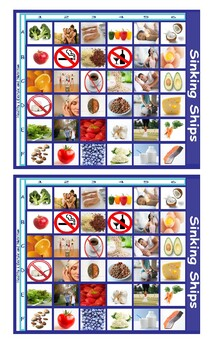 Healthy Lifestyle and Nutrition Legal Size Photo Battleship Game