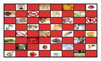Healthy Lifestyle and Nutrition Legal Size Photo Checkerboard Game