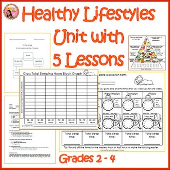 Healthy Lifestyles Unit Plan with 5 Lessons