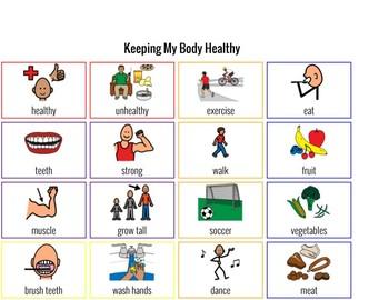 Healthy Living Communication Board