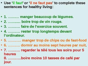 Healthy Living / Healthy lifestyle / Diet / Il faut