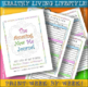 HEALTHY LIVING NUTRITION / EXERCISE JOURNAL LOG / 300 Plus Pages / Print & Go!