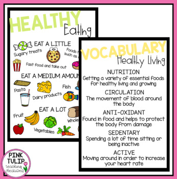 Healthy Living Poster Set - Classroom Display