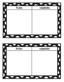 Healthy Living Spanish Activity Folder