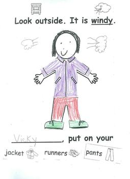 Healthy Living WHAT DO YOU WEAR? Class Book Activity