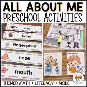 Healthy Me Inside and Out Activities for Pre-K, Preschool and Tots