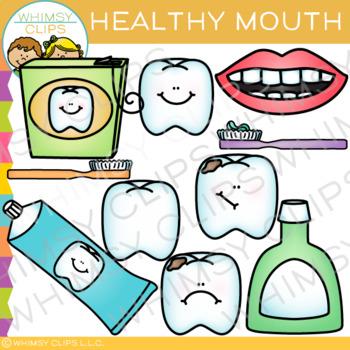 Healthy Mouth Dental Clip Art