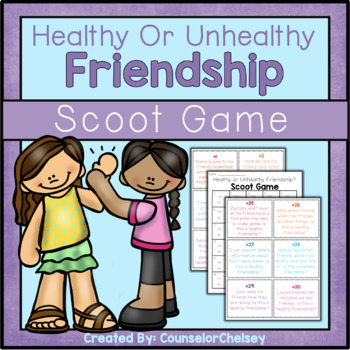 Healthy Or Unhealthy Friendship Scoot Game