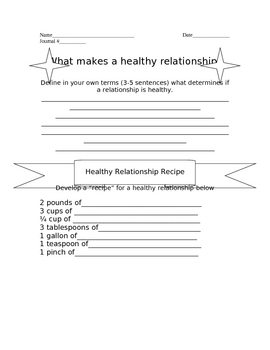 Healthy Relationship Journal