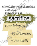 Healthy Relationship Poster - bundle of mult. formats