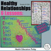 Health Lesson: Healthy Relationships for Teen Health: A TPT BEST SELLER!