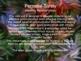 Healthy Relationships and Open Communication PowerPoint
